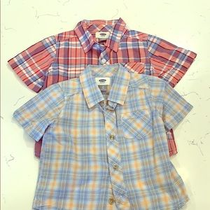 Old Navy 3T button up shirts qty 2